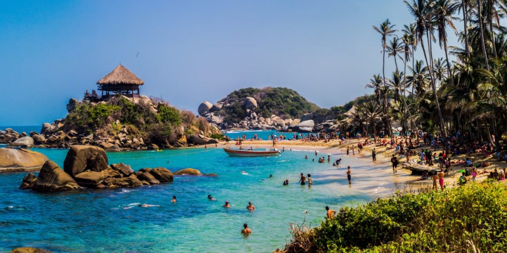 Tayrona beach in colombia